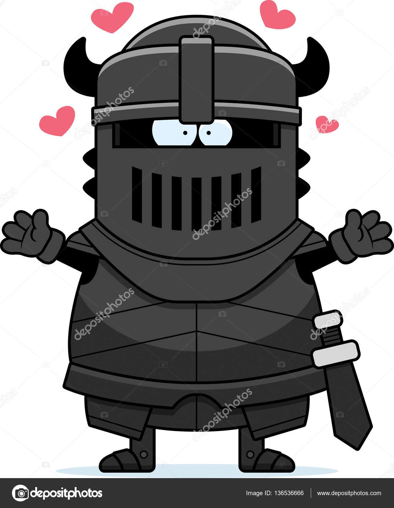 Dessin Anime Chevalier Noir Hug Image Vectorielle Cthoman C 136536666