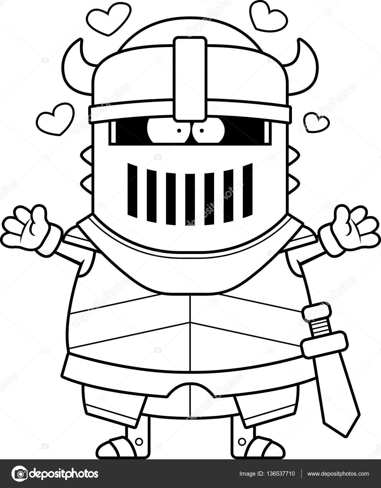 Dessin Anime Chevalier Noir Hug Image Vectorielle Cthoman C 136537710