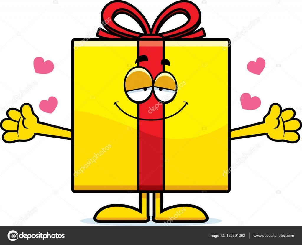 Cartoon Birthday Gift Hug Stock Vector C Cthoman 152391262