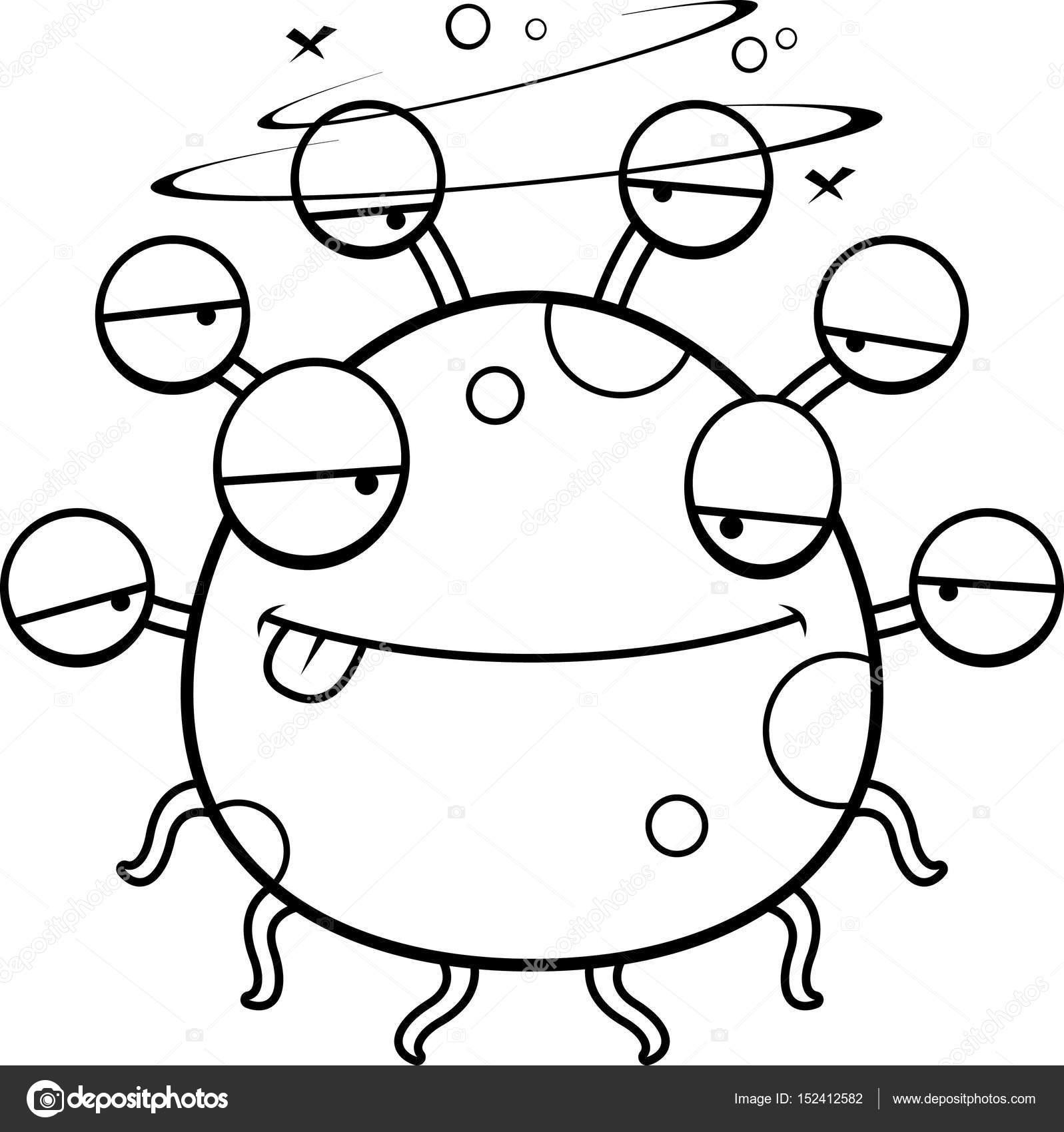 Monstruo de dibujos animados borrachos del globo ocular — Vector de ...