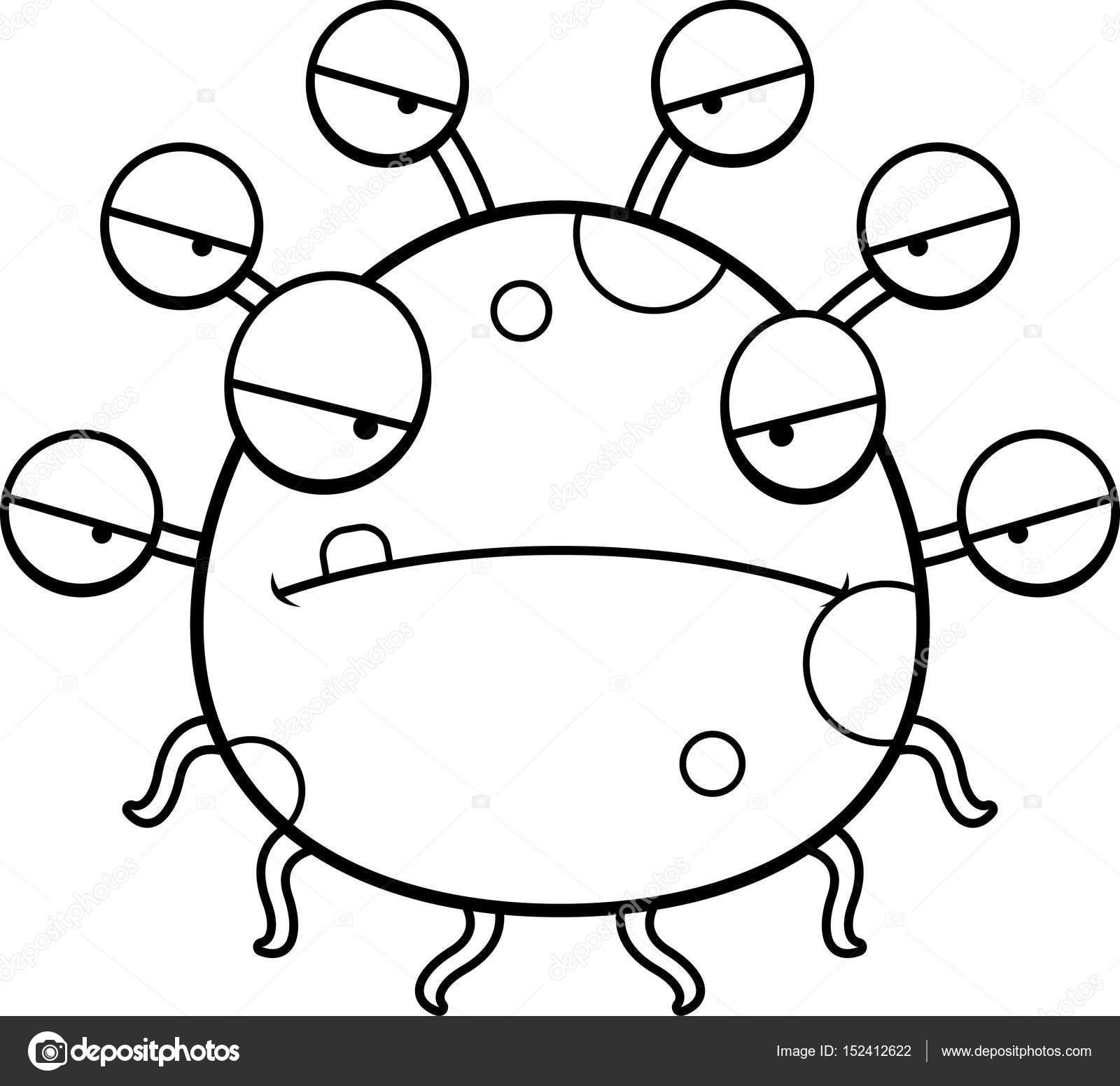Dibujos animados locos monstruo de globo ocular — Archivo Imágenes ...