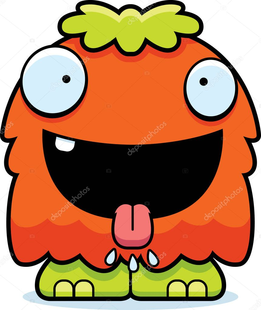 A Cartoon Illustration Of A Fluffy Monster Looking Hungry Premium Vector In Adobe Illustrator Ai Ai Format Encapsulated Postscript Eps Eps Format