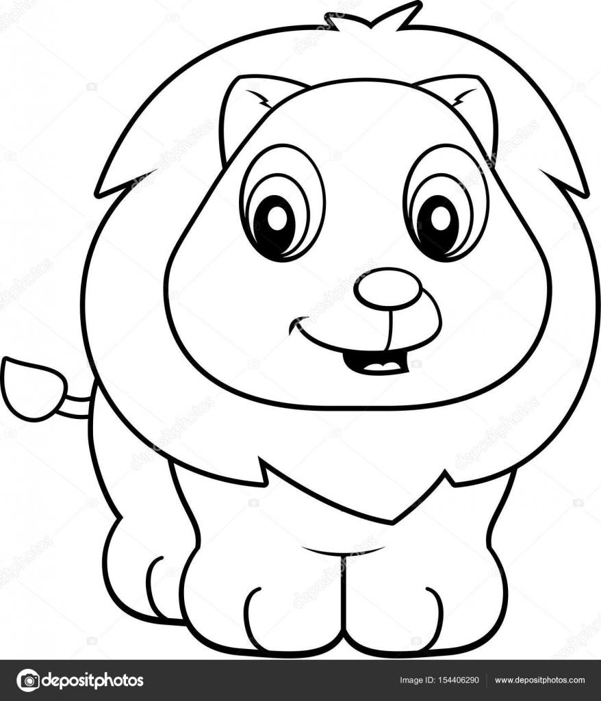 Dessin Animé Bébé Lion Image Vectorielle Cthoman 154406290