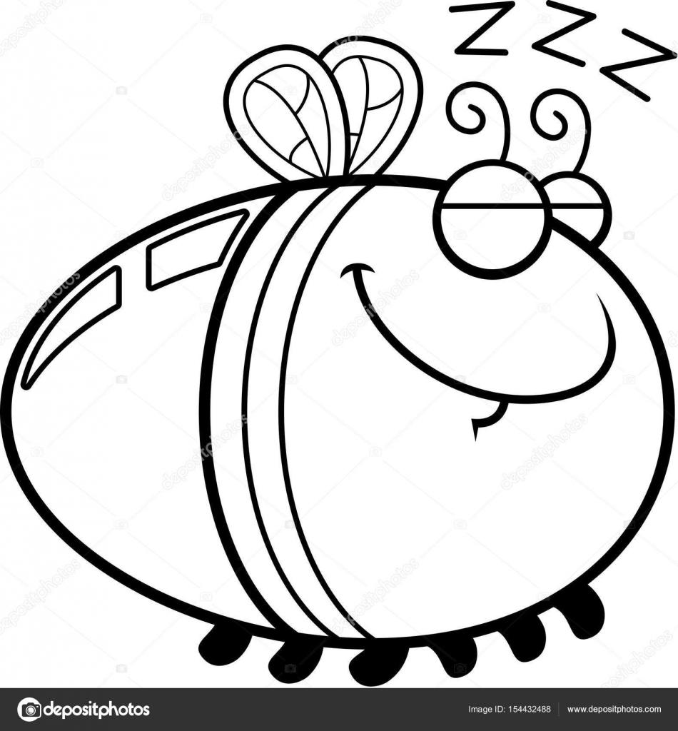 Uyku çizgi Film Ateş Böceği Stok Vektör Cthoman 154432488