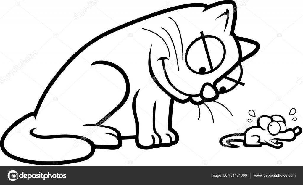 Dibujos Animados Gato Y El Ratón Vector De Stock Cthoman 154434000