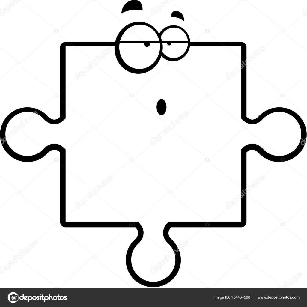 Pi ce du puzzle confus image vectorielle cthoman - Puzzle dessin ...