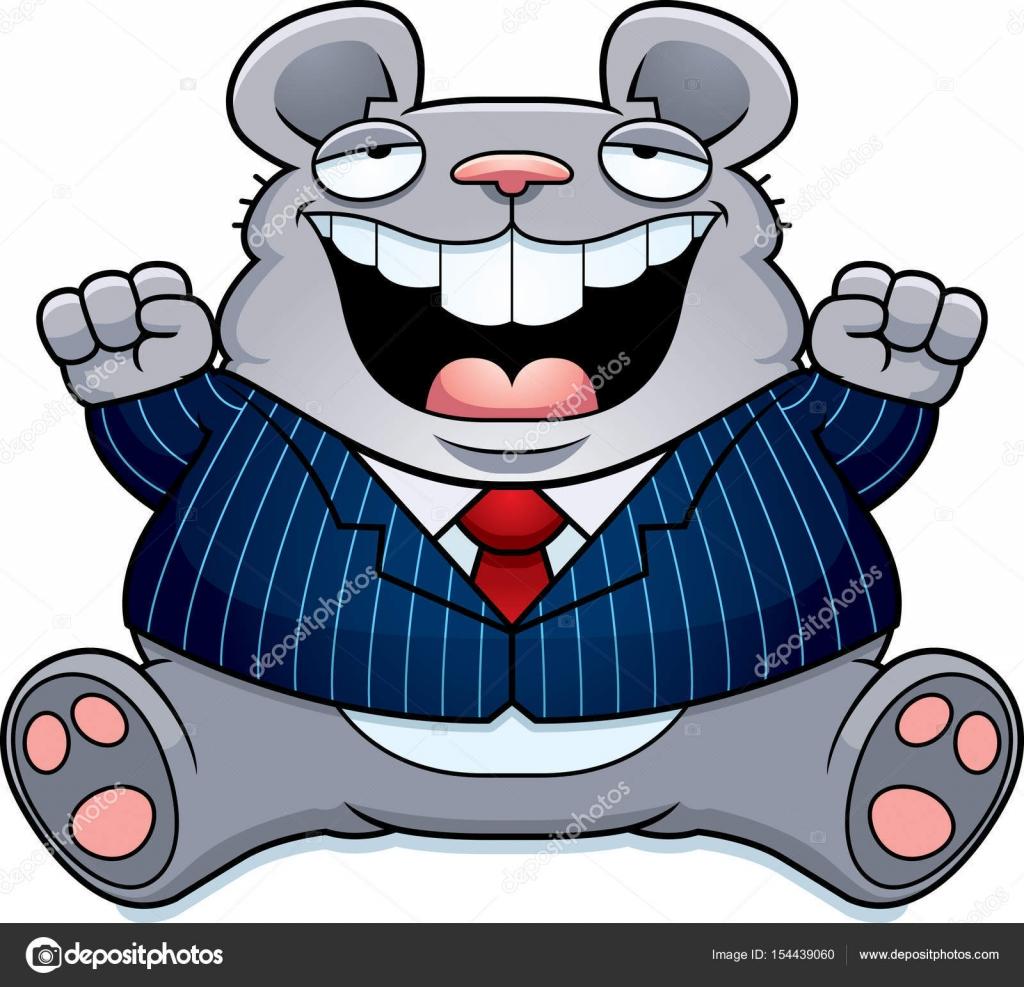 Cartone animato topo grasso vestito u vettoriali stock cthoman