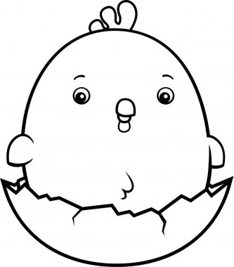 Cartoon Baby Rooster Egg