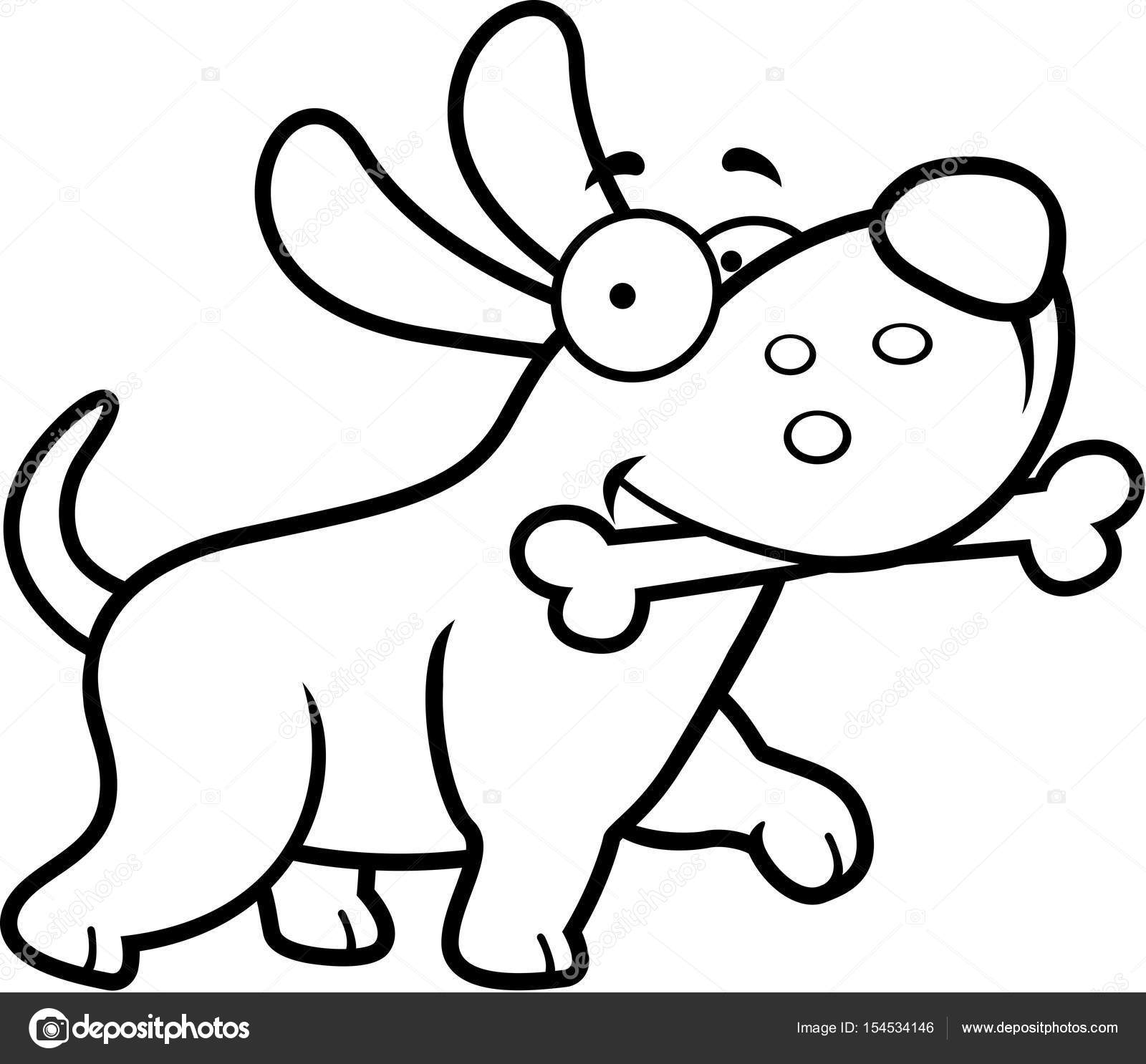 Clipart Dog Bone Cartoon Dog Bone Stock Vector