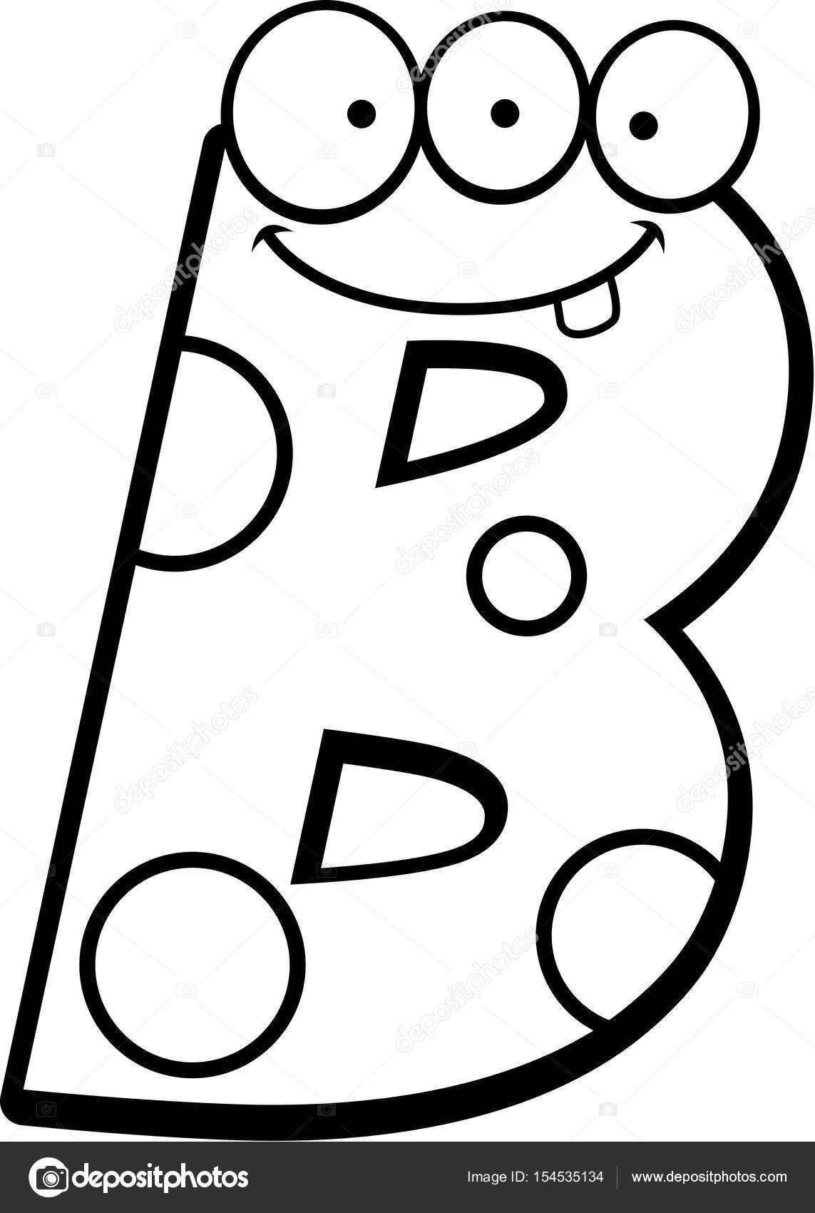 Litera B Potwora Grafika Wektorowa Cthoman 154535134