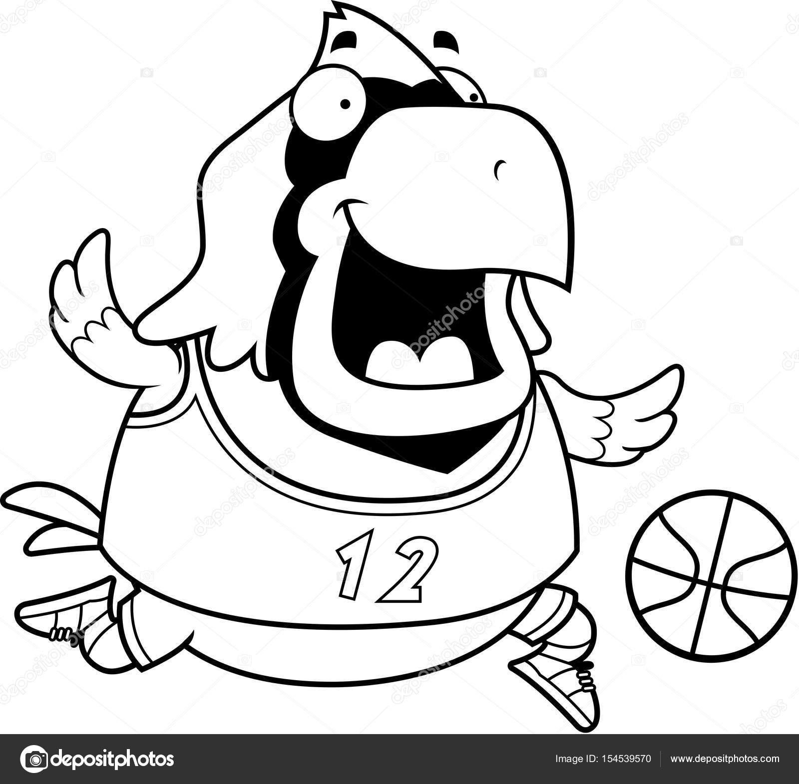 Cardenal de dibujos animados baloncesto — Archivo Imágenes ...
