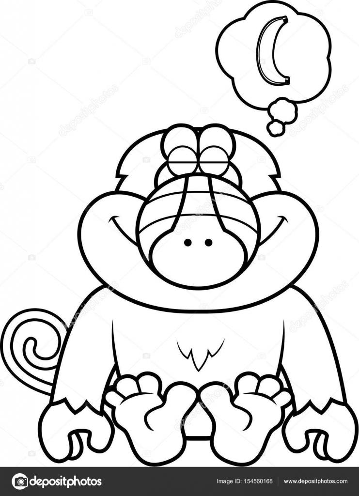 Dibujos animados babuino soñando — Archivo Imágenes Vectoriales ...