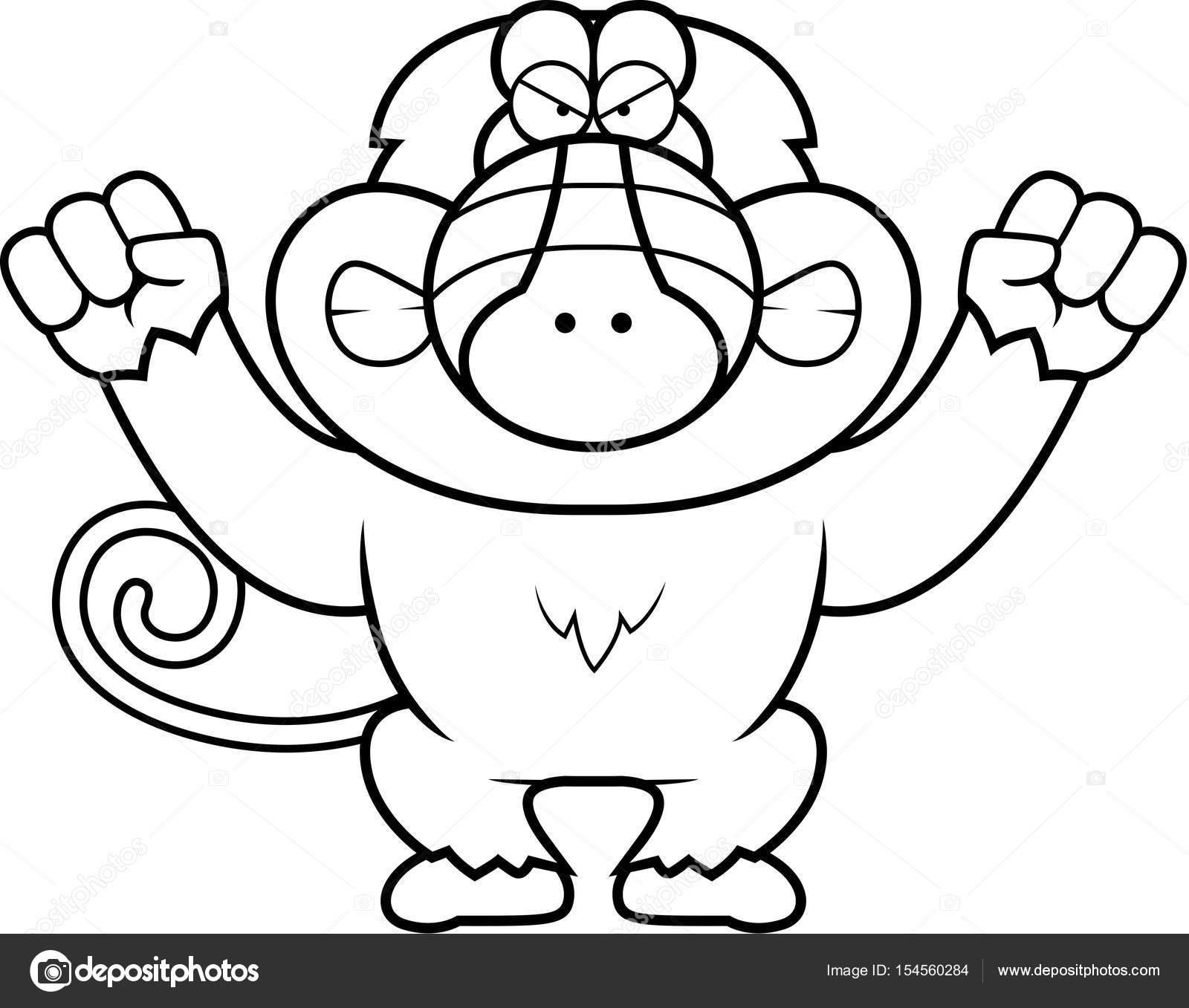 Babuino de dibujos animados enojado — Vector de stock © cthoman ...