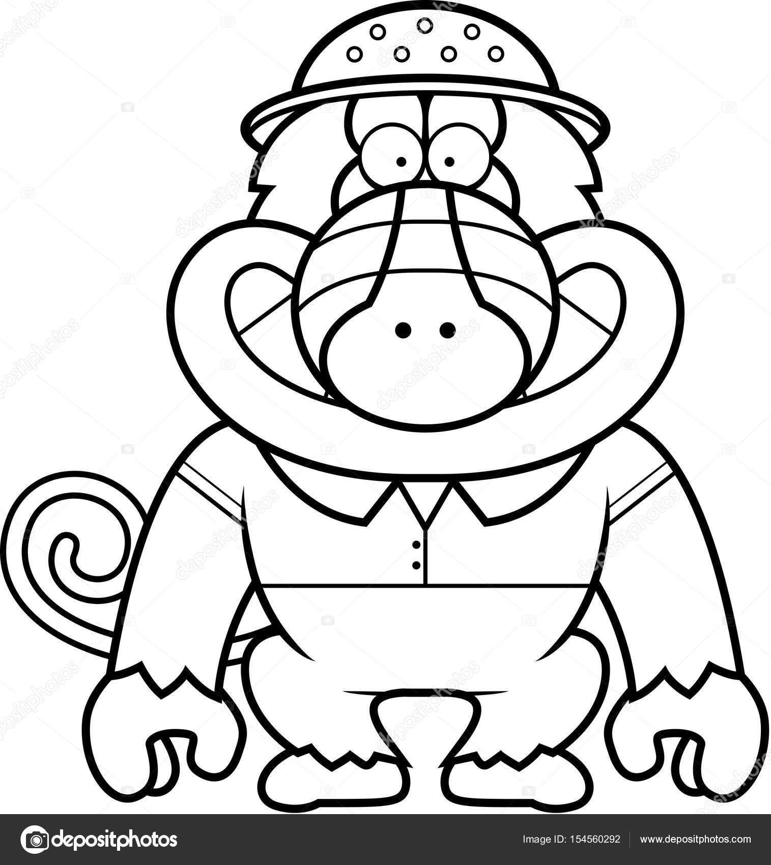 Dibujos animados babuino Safari — Archivo Imágenes Vectoriales ...