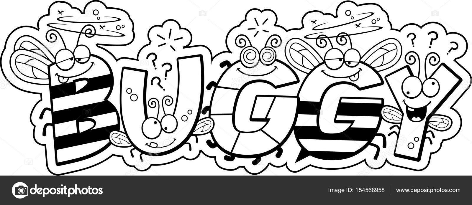 texto de buggy dos desenhos animados vetores de stock cthoman