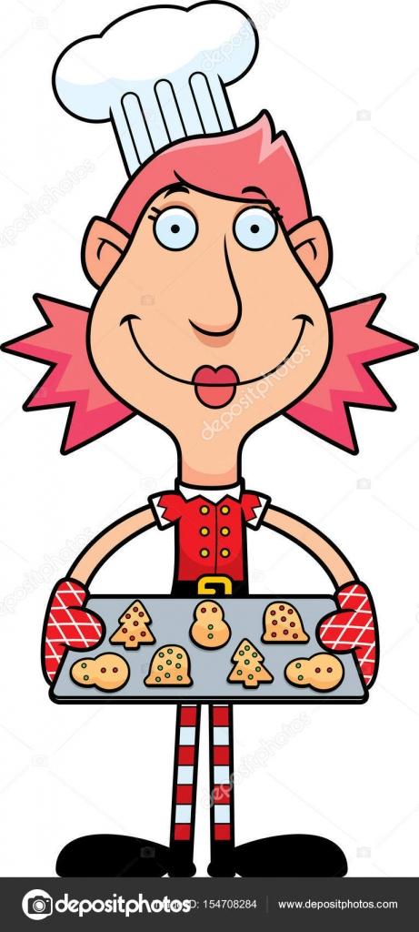 Weihnachtsplätzchen Clipart.Cartoon Elf Weihnachtsplätzchen Stockvektor Cthoman 154708284
