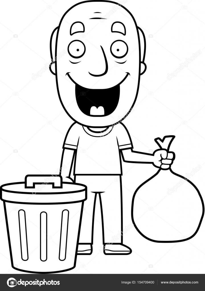 Abuelo de dibujos animados basura — Archivo Imágenes Vectoriales ...