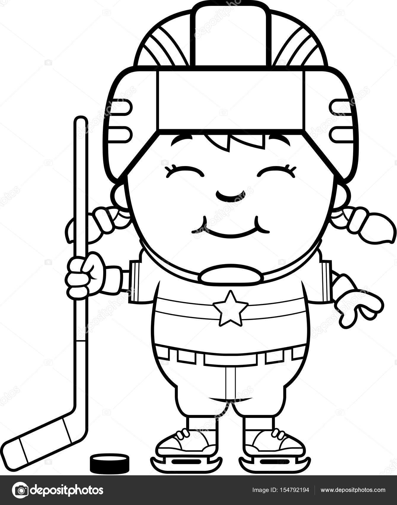 jugador de hockey de la historieta — Archivo Imágenes Vectoriales ...