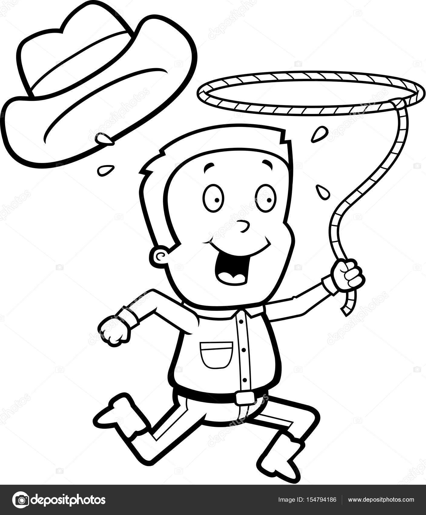 Cartoon Rodeo Boy — Stock Vector © cthoman  154794186 c3807683e0bb