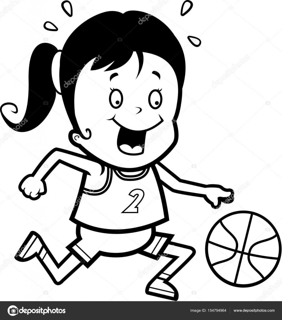Niño Jugando Basketball Para Colorear Niño Jugando Baloncesto