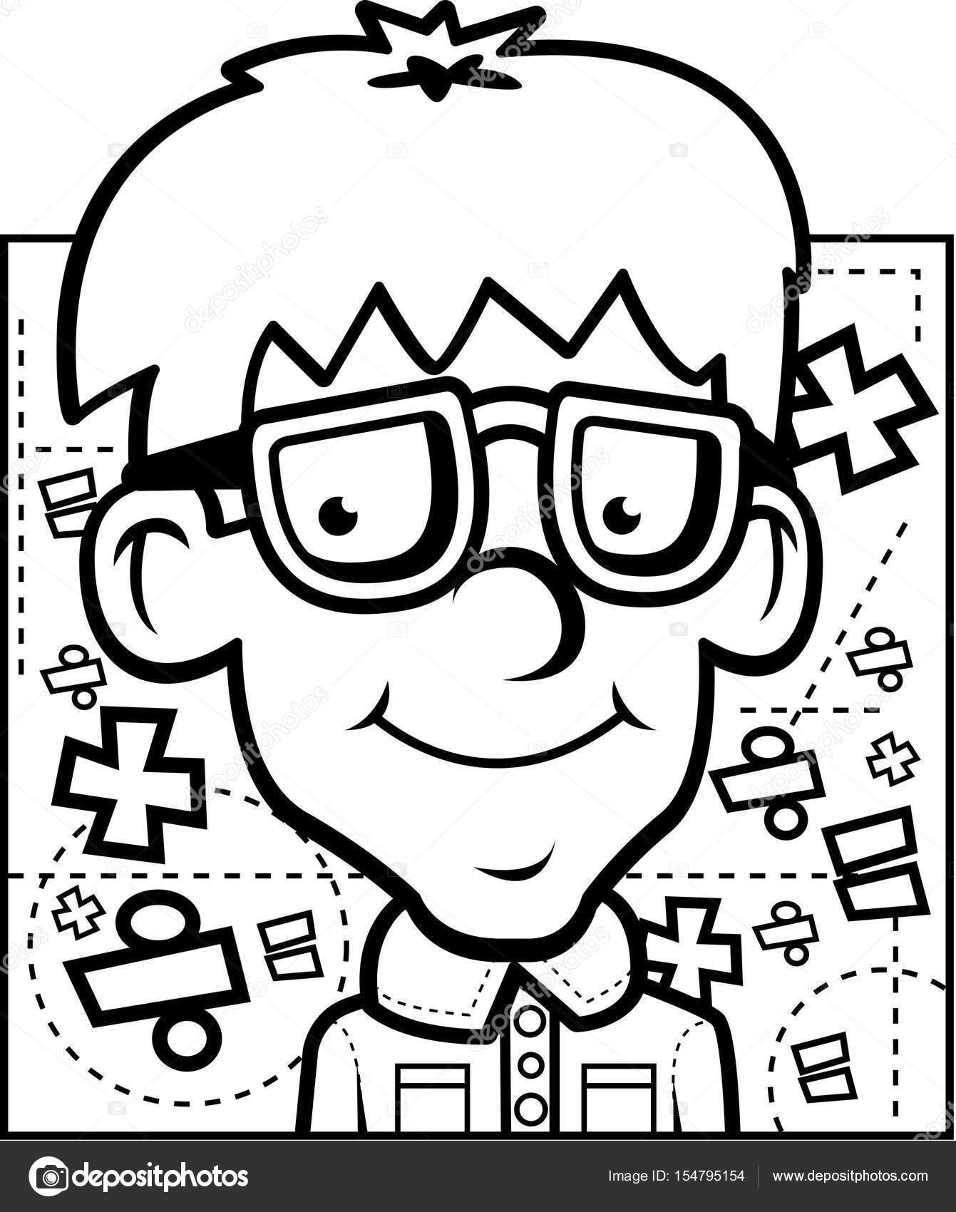 dibujos animados matem u00e1ticas nerd archivo im u00e1genes vectoriales  u00a9 cthoman 154795154 math clip art for kids black and white Math Symbols Clip Art