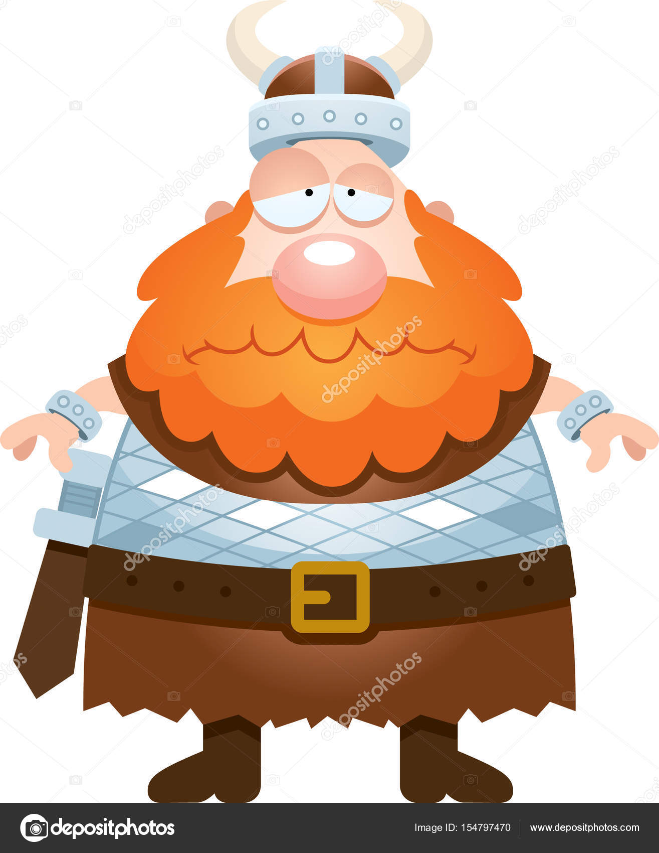 Sad Cartoon Viking Stock Vector C Cthoman 154797470