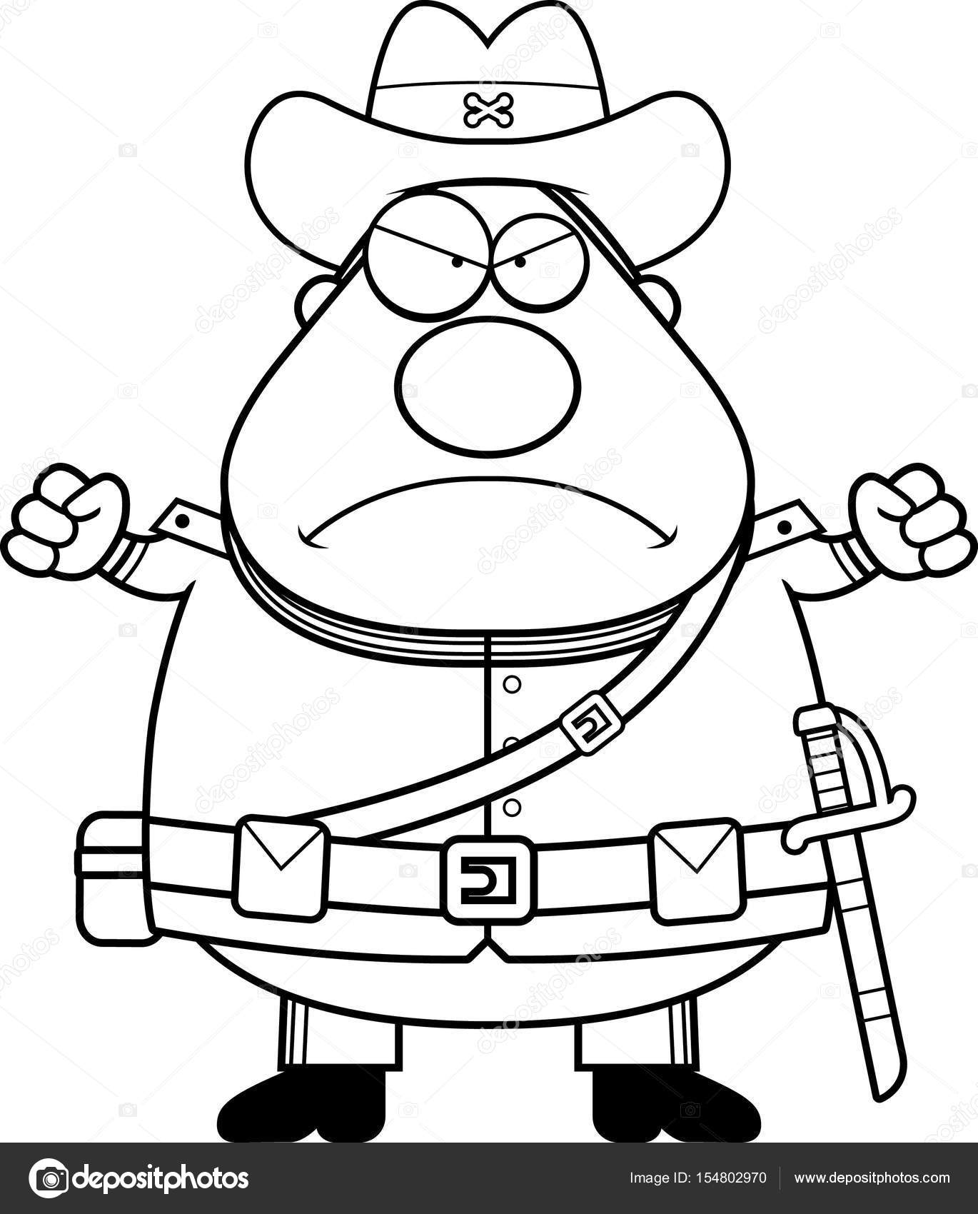 Soldado confederado de dibujos animados enojado — Archivo Imágenes ...
