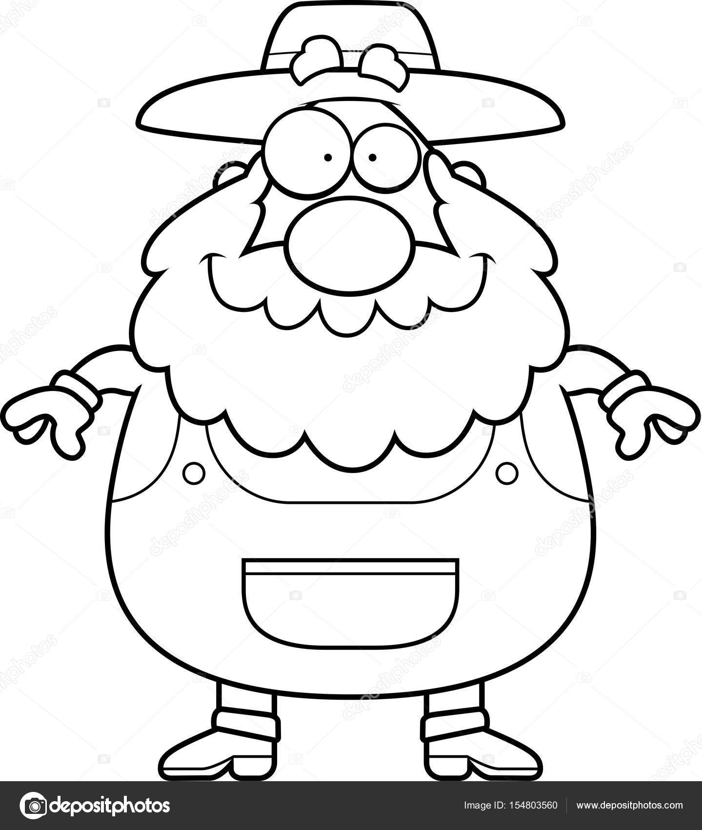 Dibujos Animados Granjero Sonriendo Vector De Stock Cthoman
