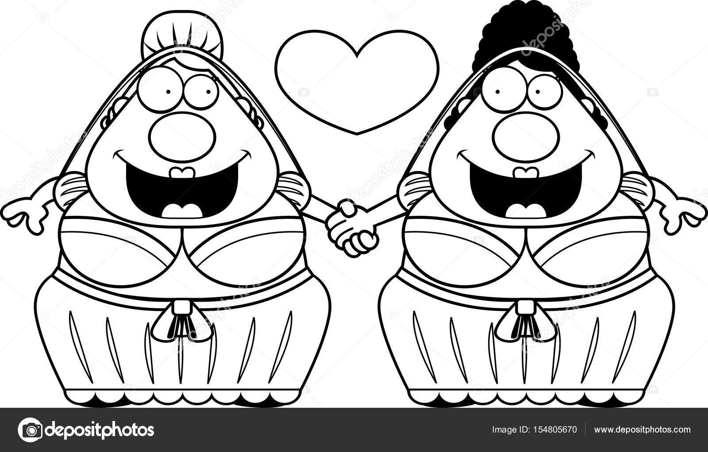Matrimonio de Gay dibujos animados — Vector de stock © cthoman ...