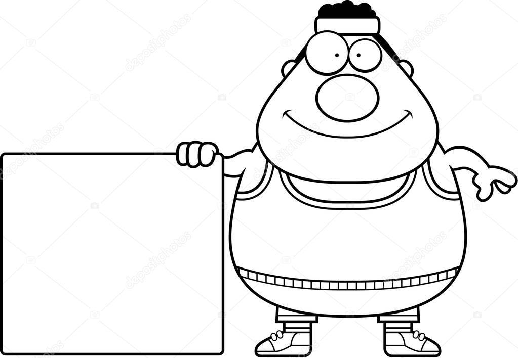 Cartoon Gym Sign