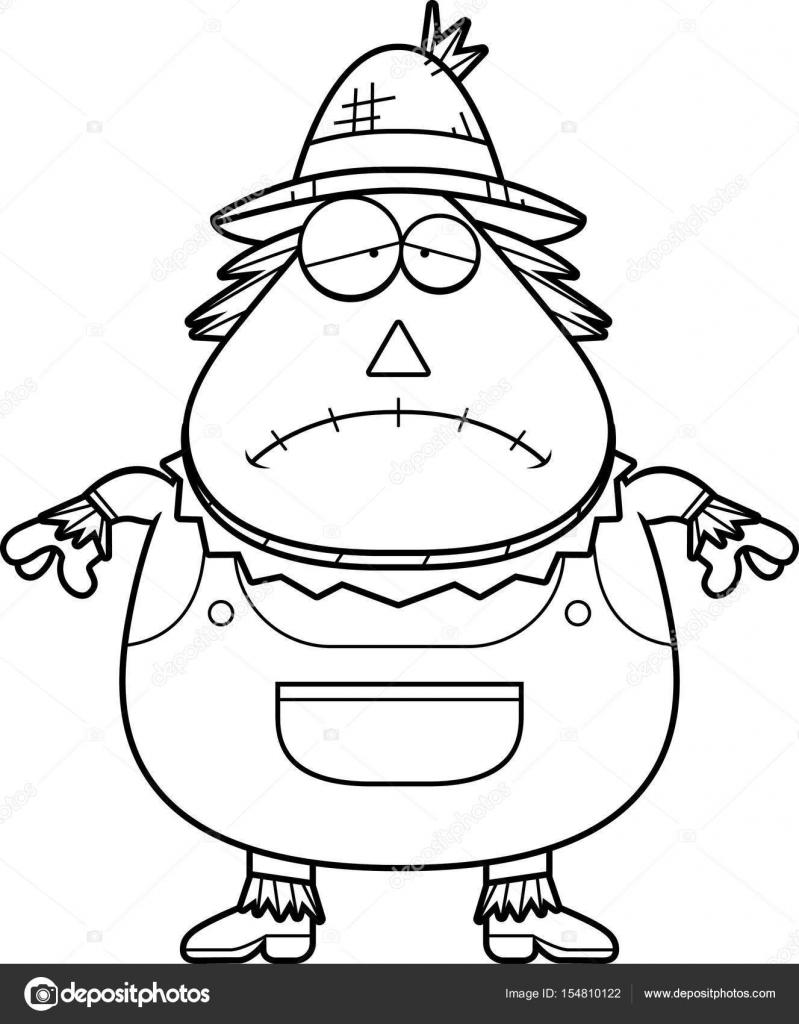 Dibujos animados triste espantapájaros — Vector de stock © cthoman ...