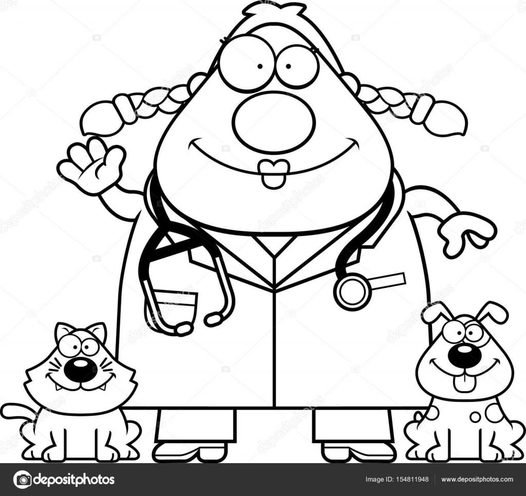 Dibujos animados veterinario agitando — Vector de stock © cthoman ...