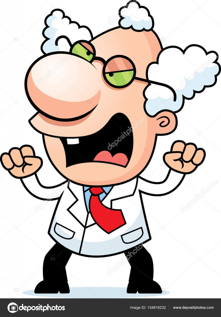 angry cartoon mad scientist stock vector cthoman 154816232 rh depositphotos com Mad Clip Art Worried Clip Art