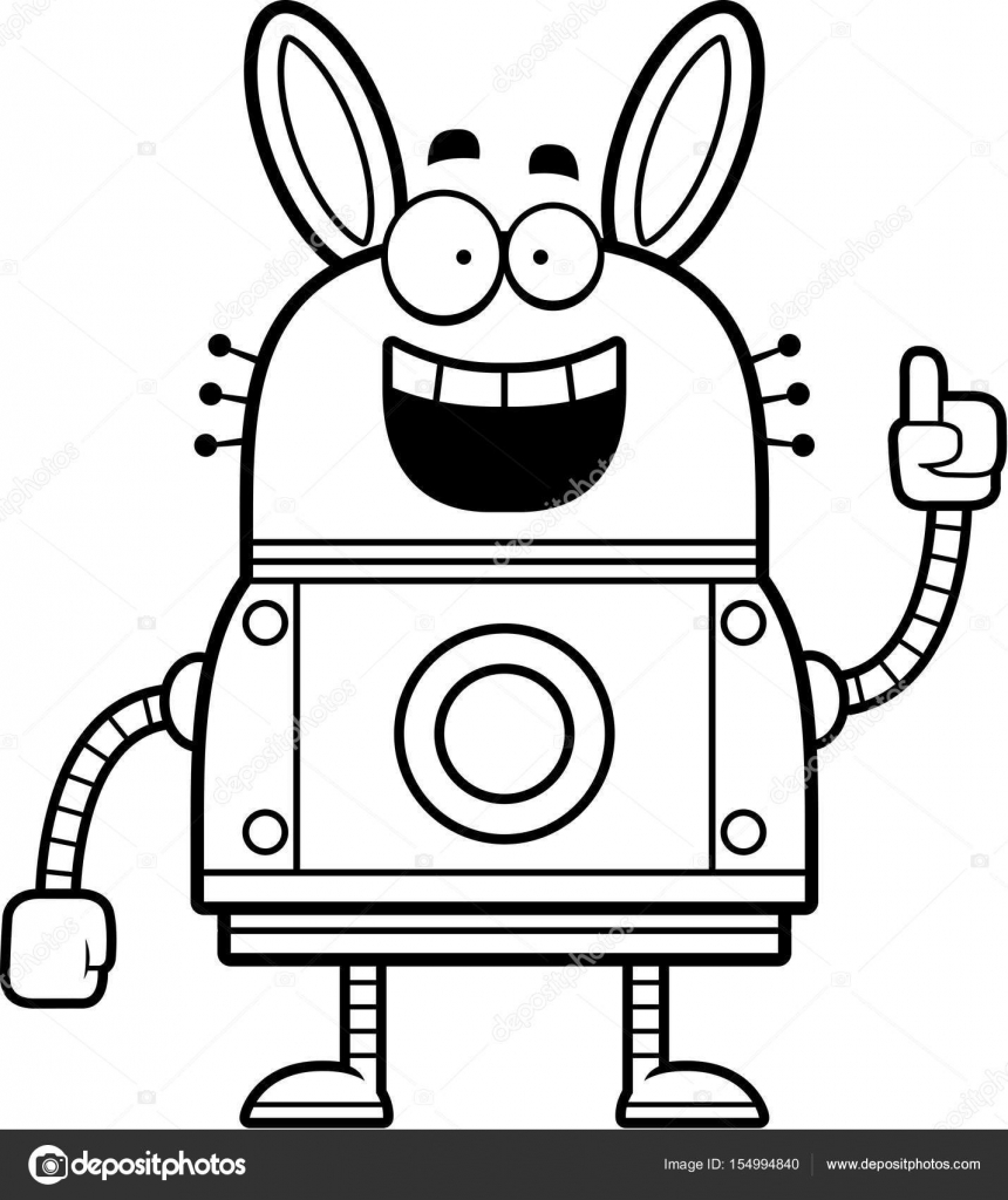 Caricatura De Conejo Para Colorear Robot Conejo Idea