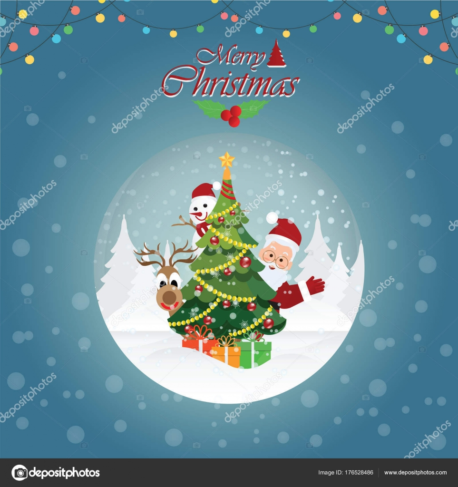 Foto Con Auguri Di Buon Natale.Cartolina D Auguri Di Buon Natale Con Natale Santa Claus4