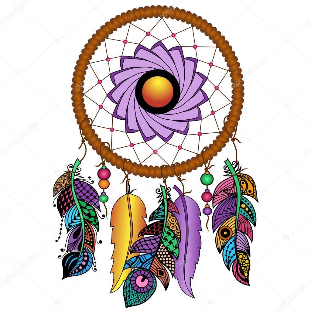 Imágenes Un Atrapasueños Atrapasueños De Colores Dibujados A Mano