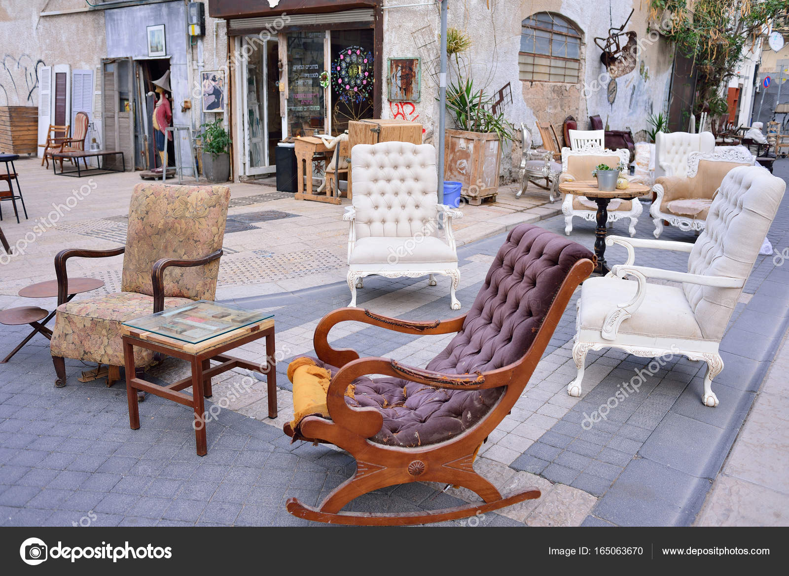 Tel Aviv Israel April 2017 Flohmarkt In Der Alten Stadt Jaffa