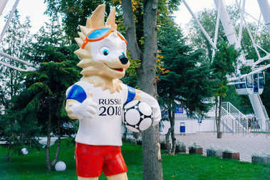 ROSTOV-ON-DON, RUSSIA - SEPTEMBER,  2017 The official mascot of