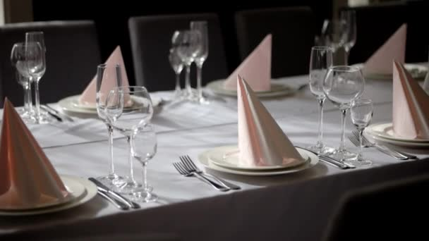 Stylish Wedding Table Ready For Guests in Restaurant.