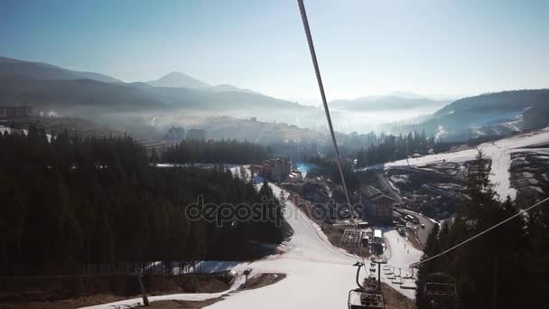 Lifting On The Chair Lift Views Of Snow Landscape Background Winter Sport  Recreations Ski Skiing Resort