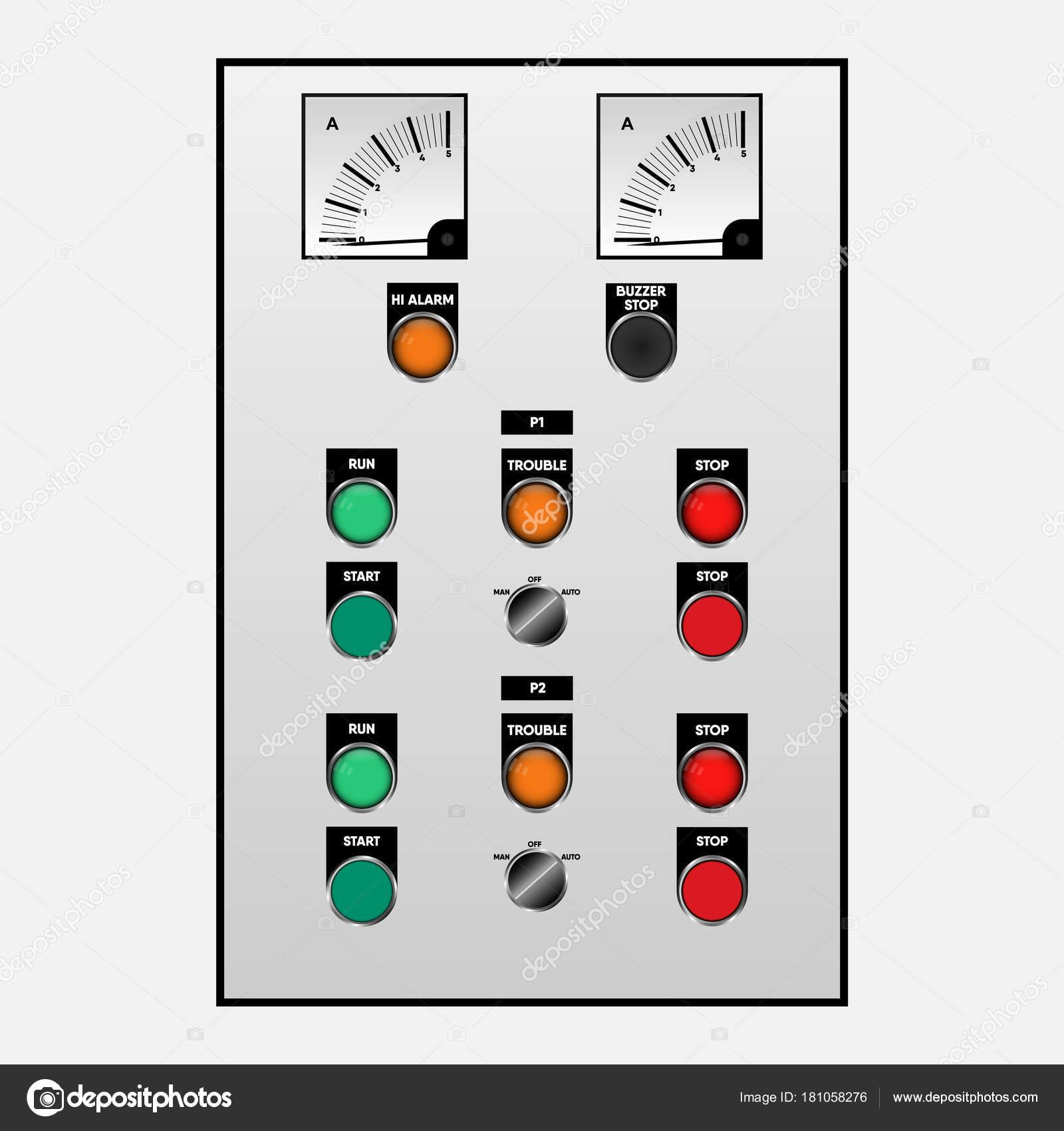 Schalten Sie die Steuerung für Notfall der elektrischen Anlage ...