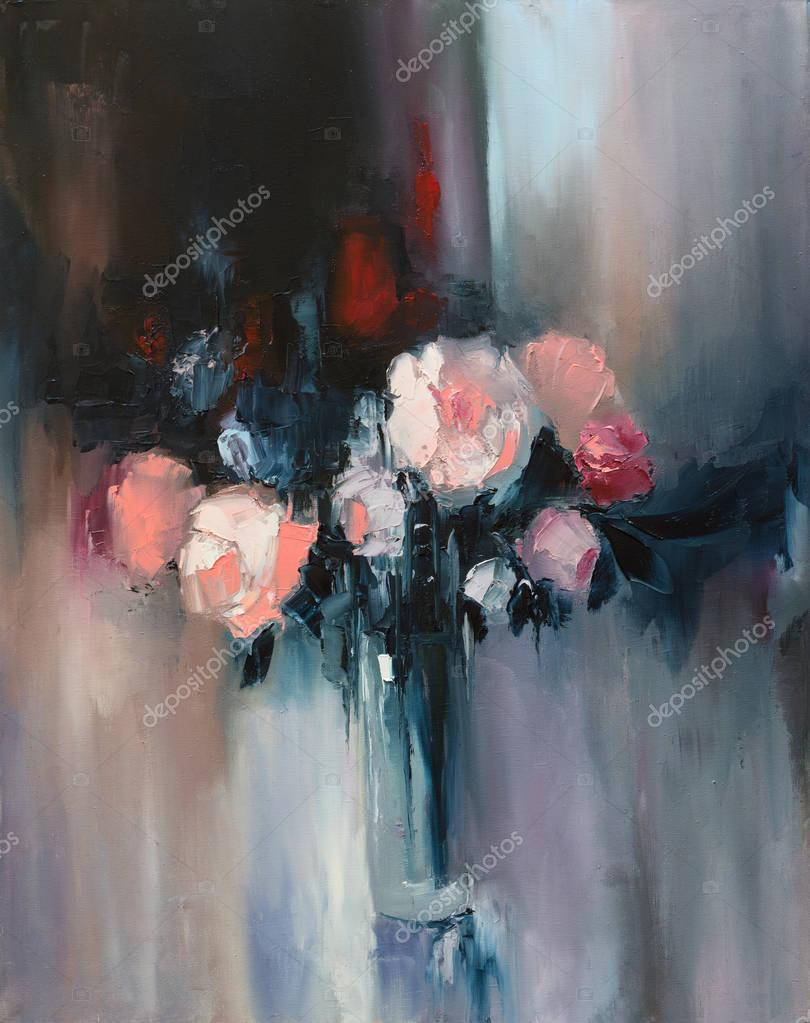 beautiful Peonies on canvas