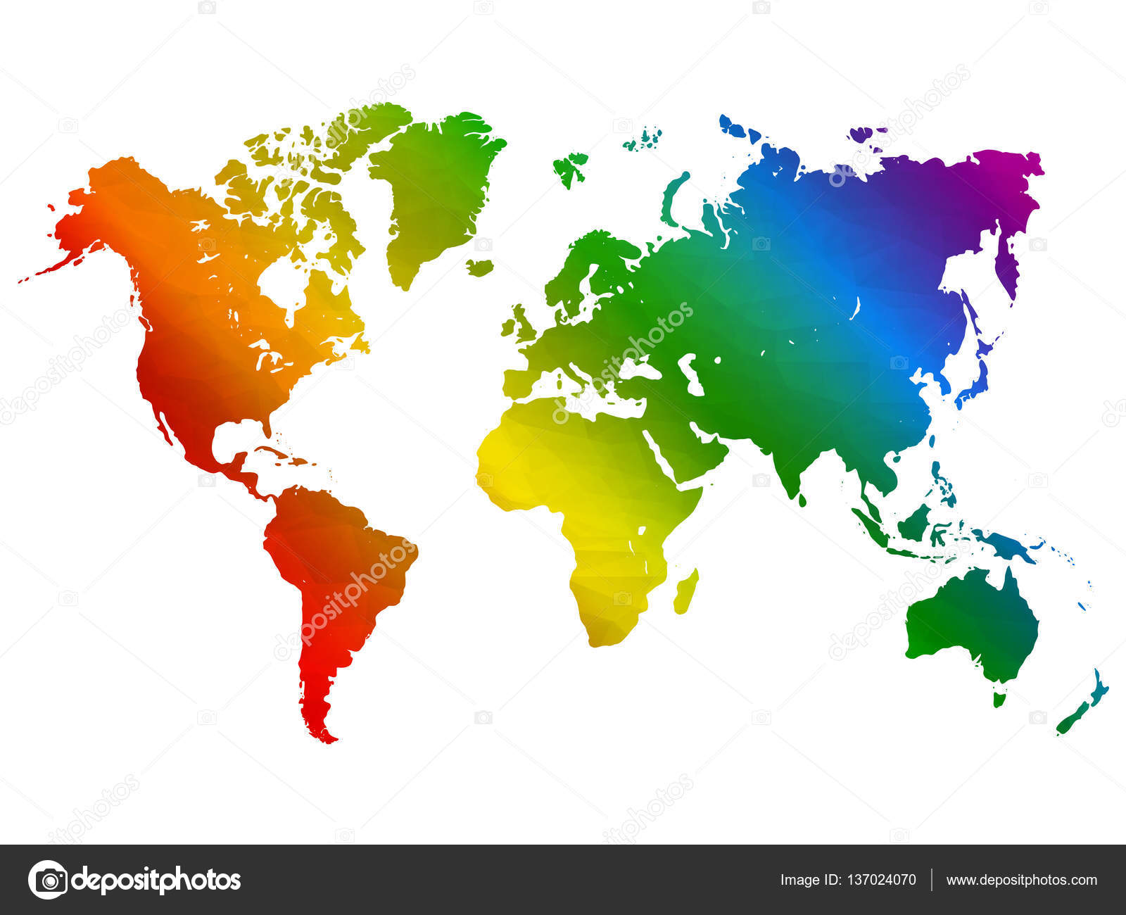 Rainbow world map colorful abstract geometrical background with rainbow world map colorful abstract geometrical background with triangular shapes vector illustration in lgbt colors symbol of peace gay culture gumiabroncs Images