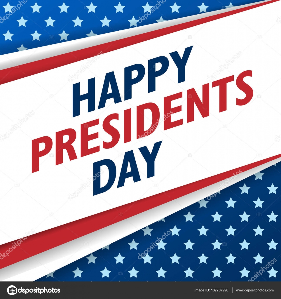 presidents day background usa patriotic template with text stripes