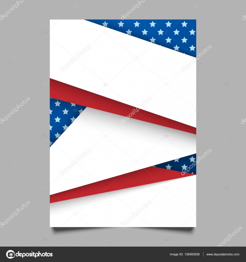 Fondo patriótico de Estados Unidos. Ilustración de vector con ...