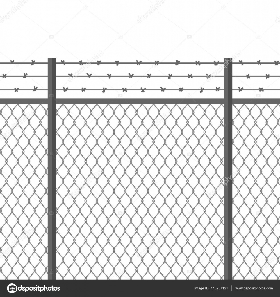 metal fence with barbed wire fortification secured property separation concept prison. Black Bedroom Furniture Sets. Home Design Ideas