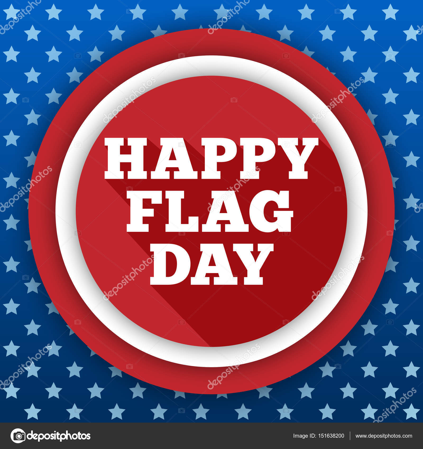 flag day background usa patriotic template with text stripes and