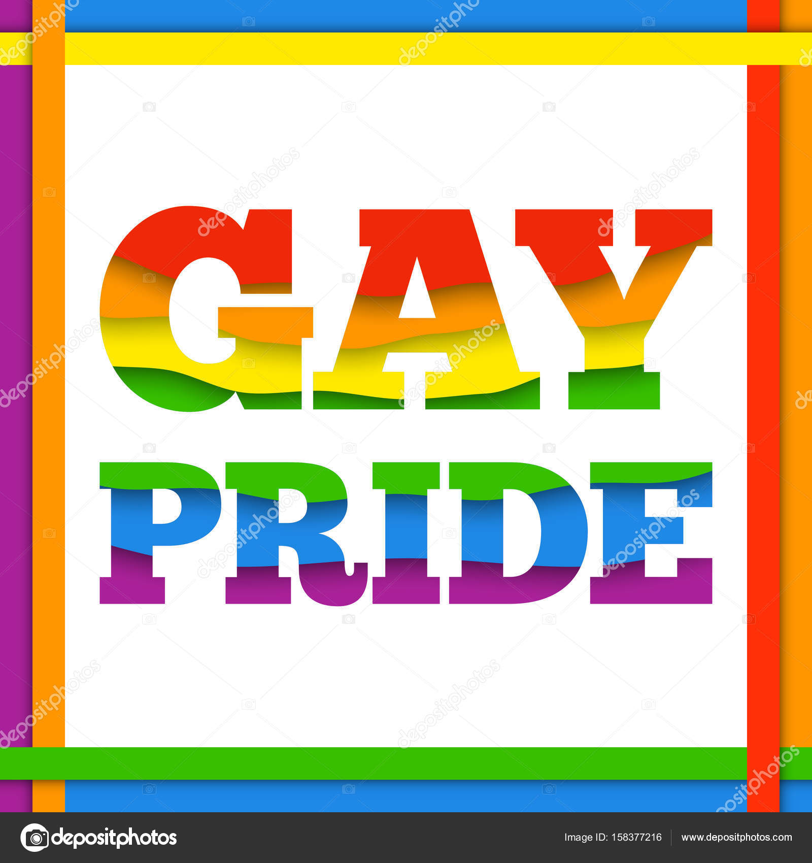 Gay pride rainbow colorful abstract background with paper layers vector illustration in lgbt flag colors symbol of peace and tolerance modern template for pride month parade special events vector by midsummerday biocorpaavc Image collections