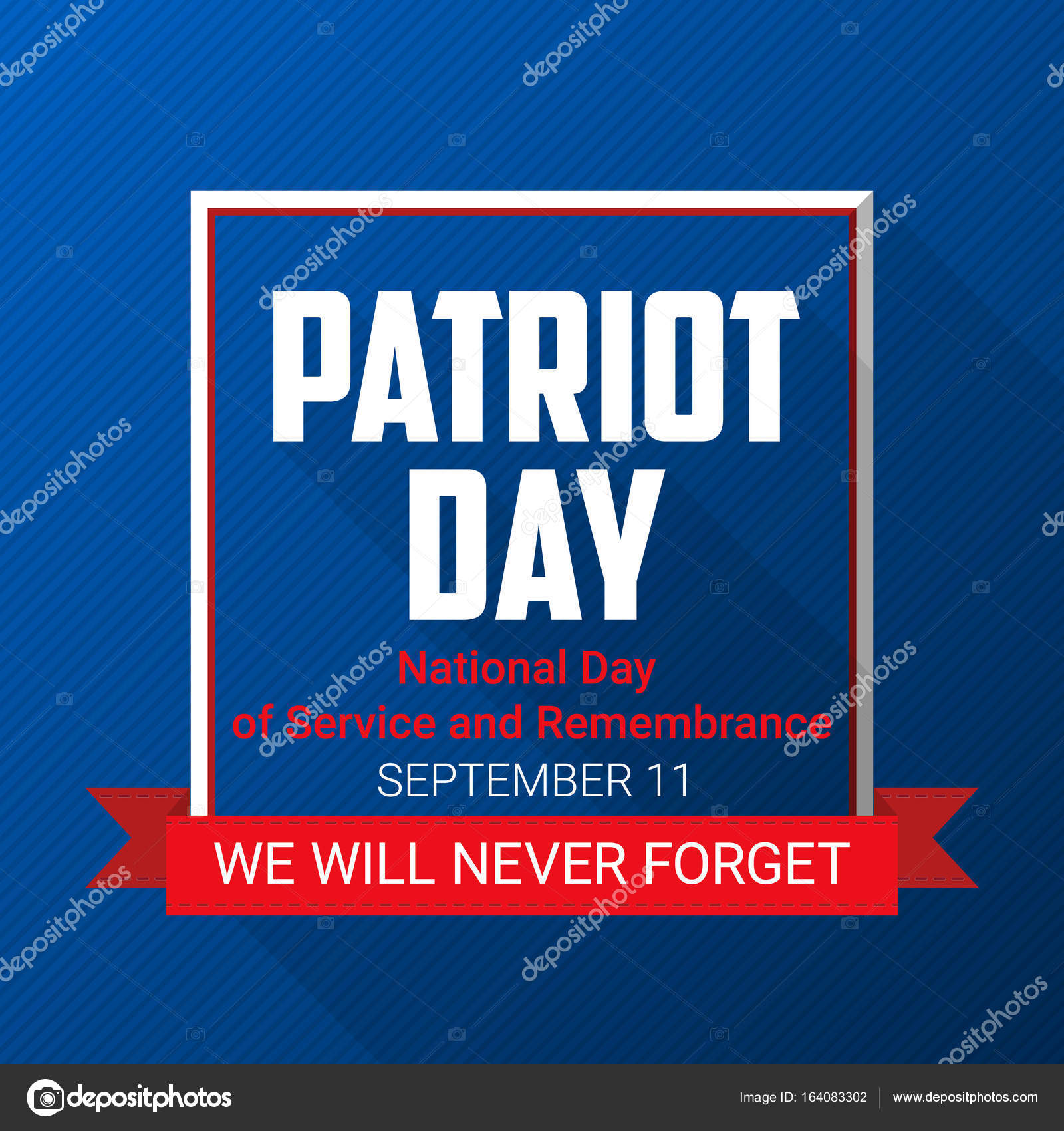 patriot day background for september 11 usa patriotic template with