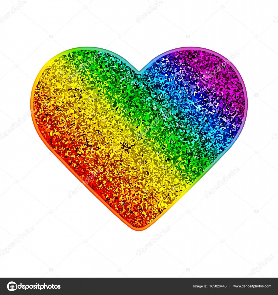Pride rainbow glitter heart colorful shiny background with sparks gay pride rainbow glitter heart colorful shiny background with sparks vector illustration in lgbt flag colors symbol of peace biocorpaavc